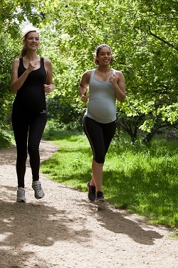 It's ok to run when you're pregnant!