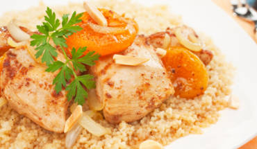 Algerian Chicken Tagine with Apricots