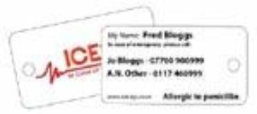 ICEtags – Identification Tags