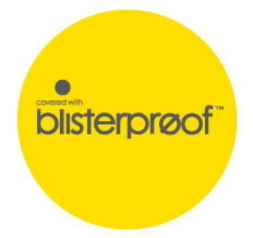 Blisterproof™ prevention is better than cure™