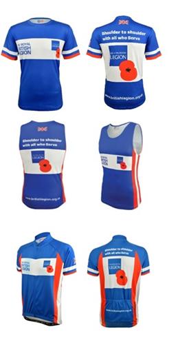 The Royal British Legion – fitness apparel