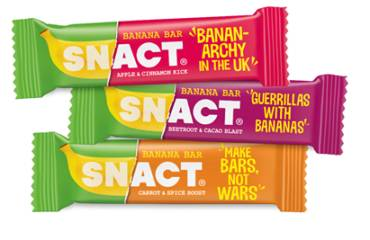 New SNACT Banana Bars